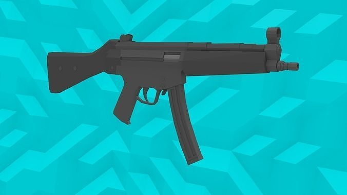 Low-Poly MP5 SMG
