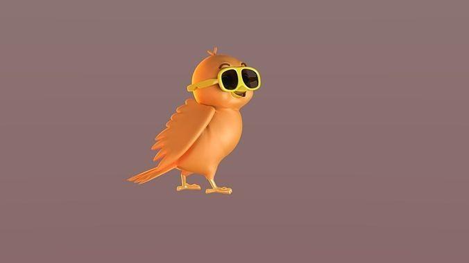 Cartoon SunGlass Bird