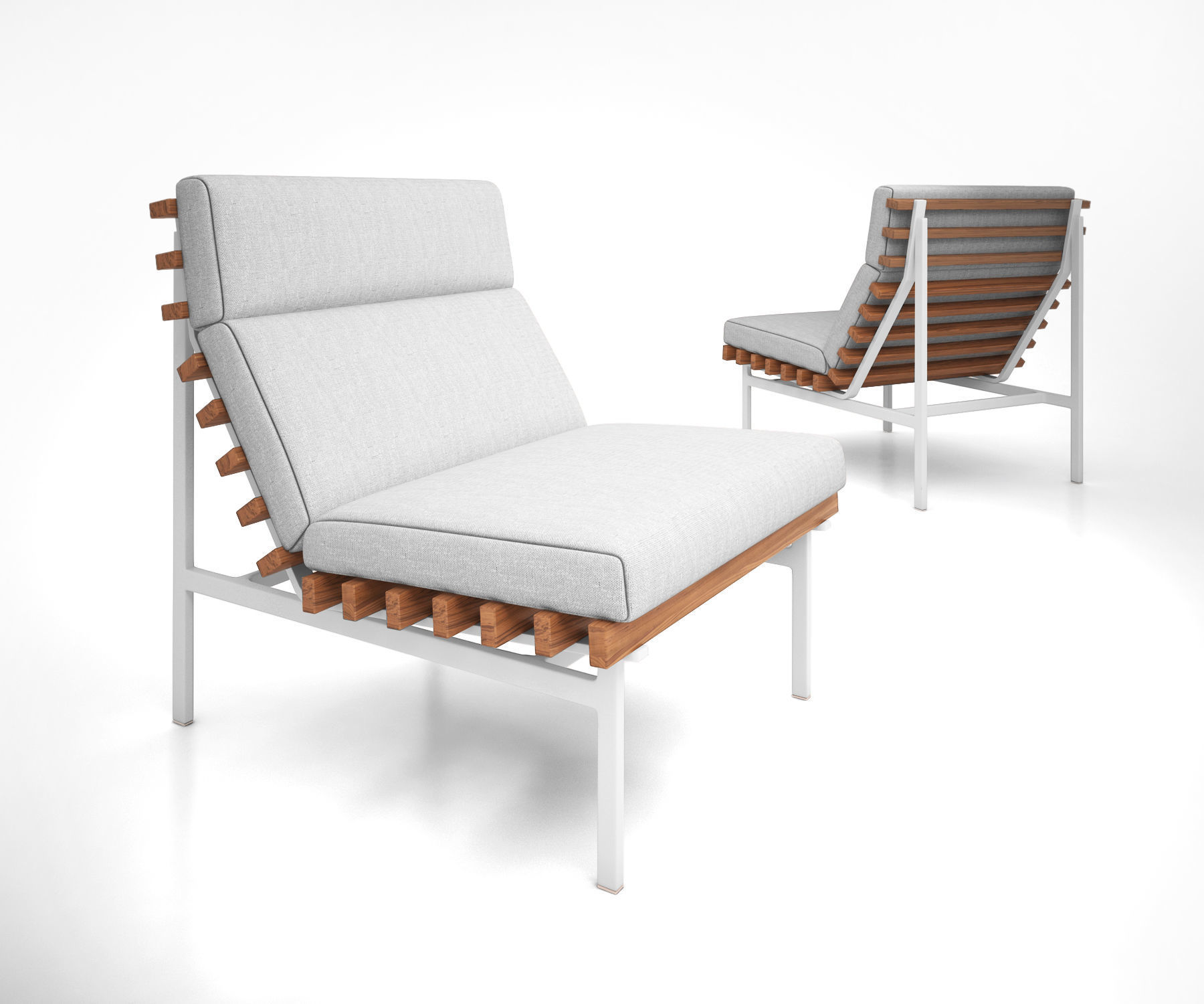 Family Perch Modern Outdoor Lounge Chair By Bludot 3d