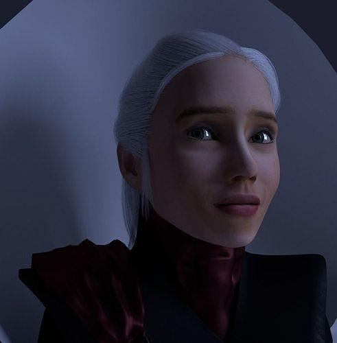 Daenerys Targaryen Face emotions Game of Thrones Low poly