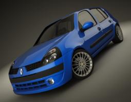 renault clio 2004 sport 3d model max dxf