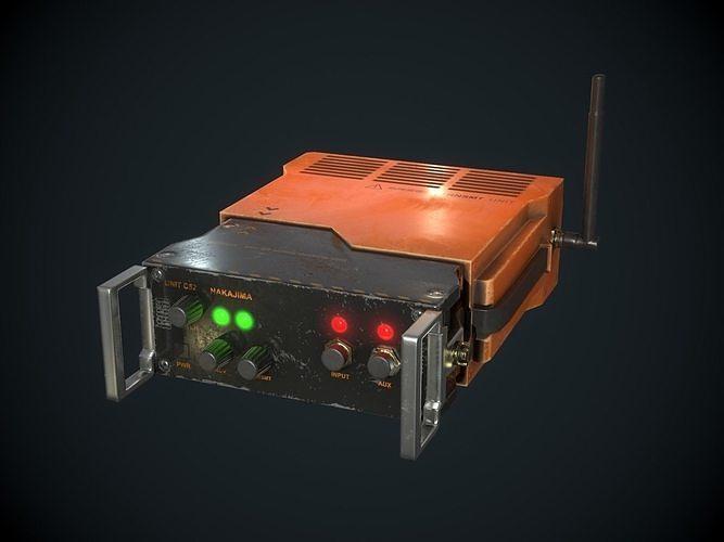 Sci-fi Transmitter Communication Device PBR