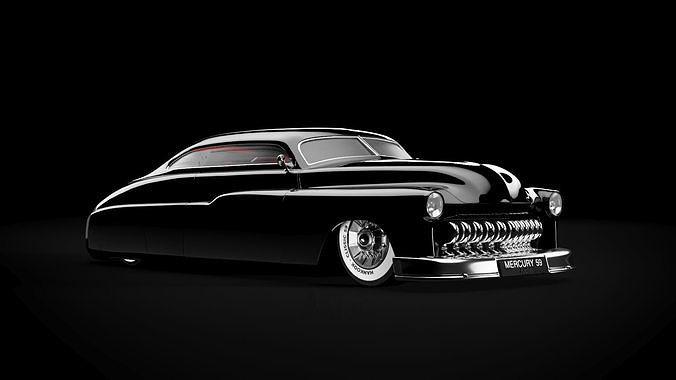 Custom Mercury 1959  hotrod 3D car model