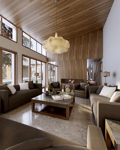 very bright living room 3d model max
