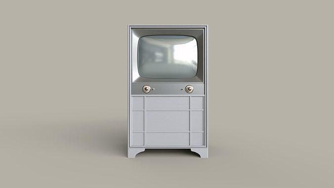 Classic White Television