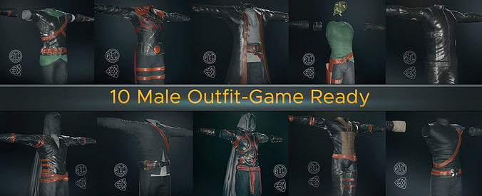 10 Male Outfit -Game Ready