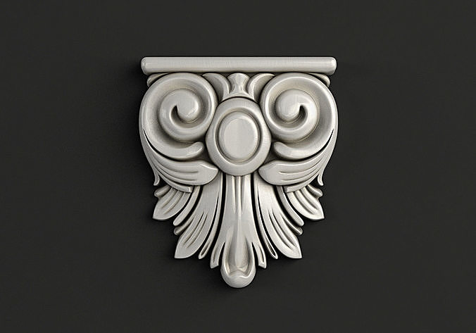 Carved Console 3D model