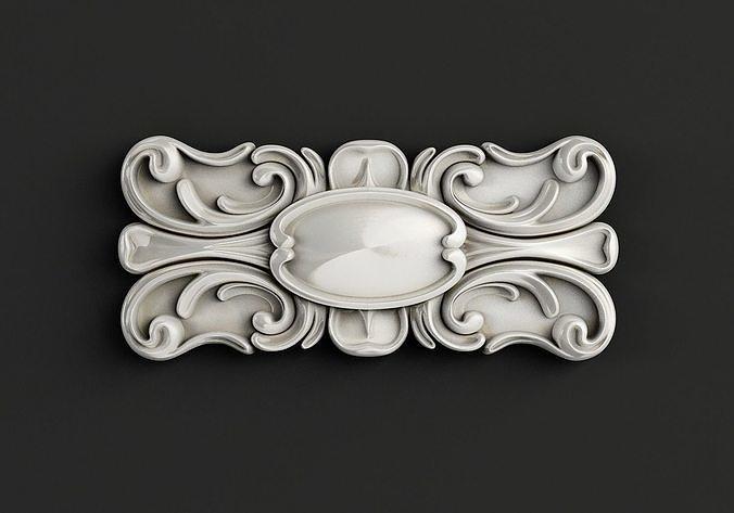 3D model Carved decor central