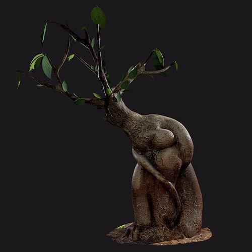 Bonsai tree - Low Poly - Game ready Low-poly 3D model