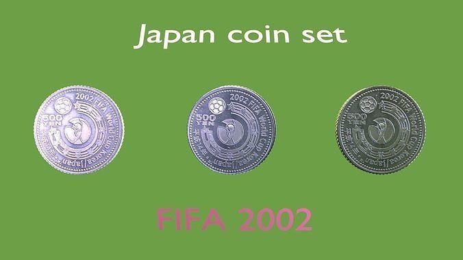 2002 Football coin set of Japan