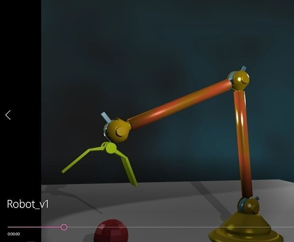 Robot Hand Picking up bouncing ball