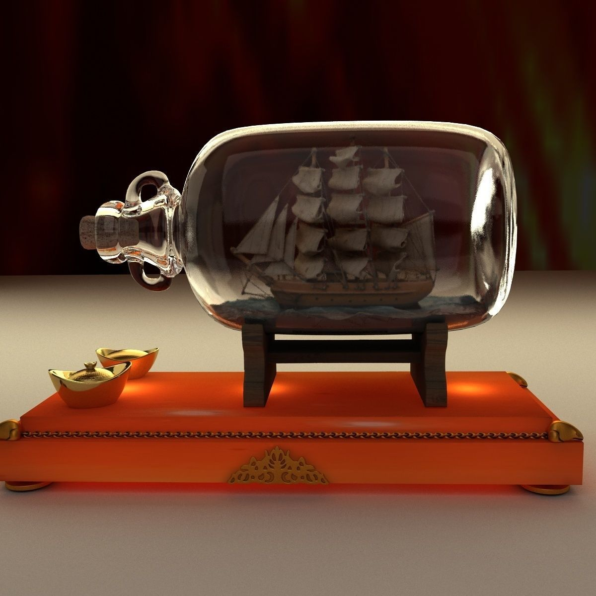 Chinese ship in the bottle