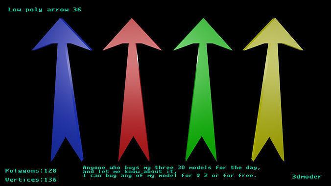 Low poly arrow 36