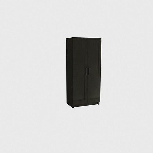 BRIMNES Wardrobe 2-door wardrobe black