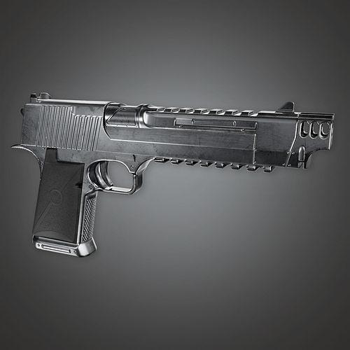 MHG - McKelvie Modern Handgun - PBR Game Ready