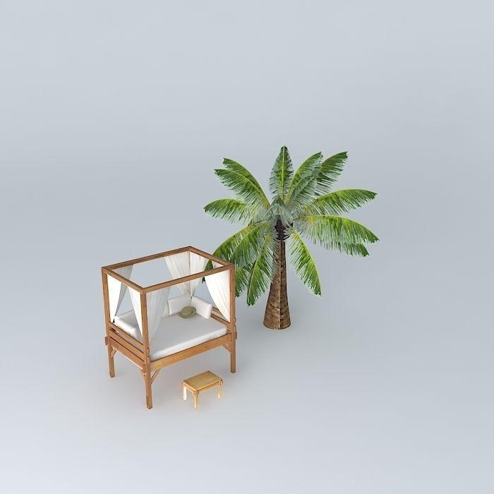 Four poster beds phuket maisons du monde 3d model max for Outdoor furniture phuket