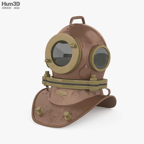 Three bolt diving helmet