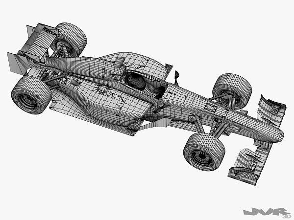 3d Model Generic F1 2012 Race Car Cgtrader