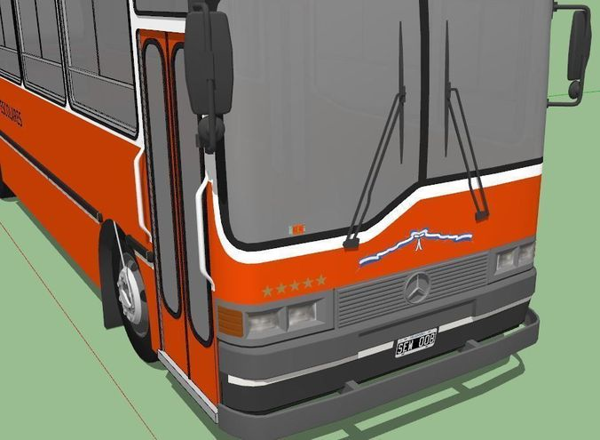 School bus from argentina mercedes benz oh 3d model obj for Mercedes benz argentina