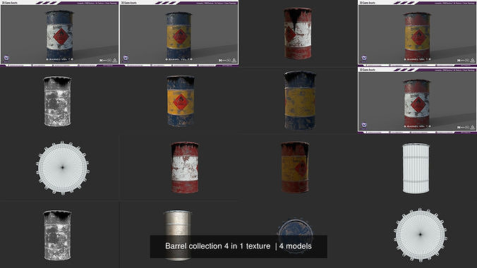 Barrel collection 4 in 1 texture