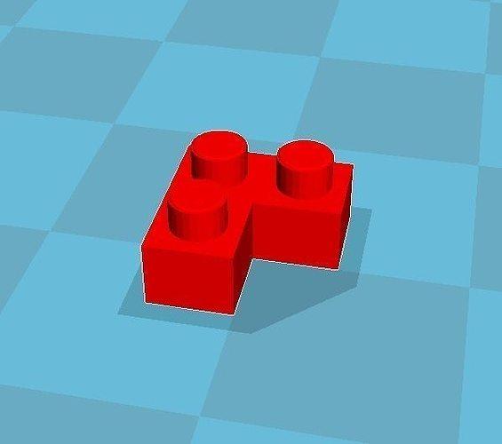 Print Block L Shape 3D Model 3D Printable STL