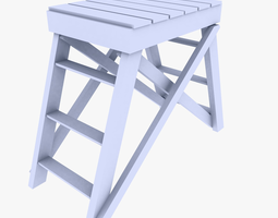 low-poly watchtower 3d model