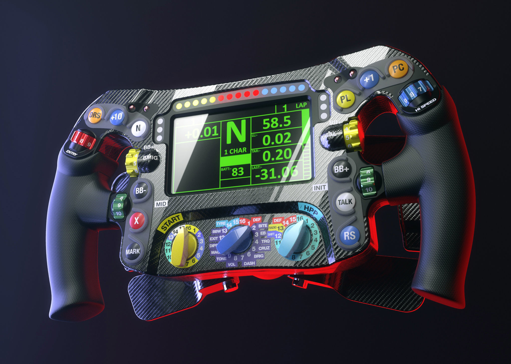 Mercedes W07 F1 steering wheel