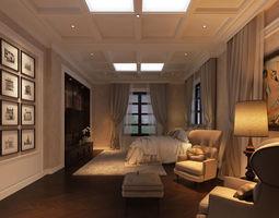 Classic bedroom CG 3D model
