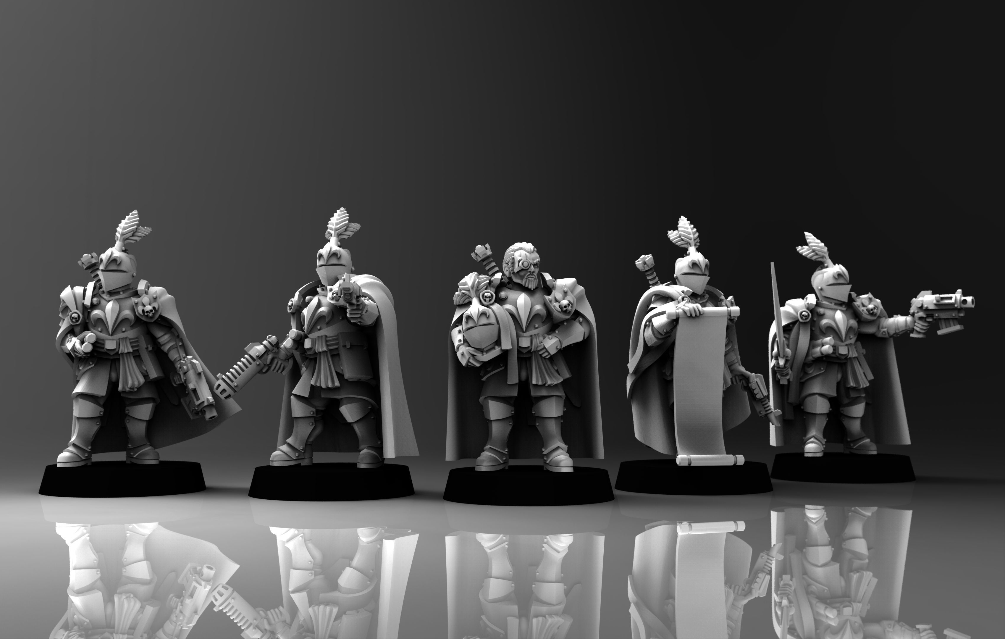 Feudal Guard Male Higher Officers