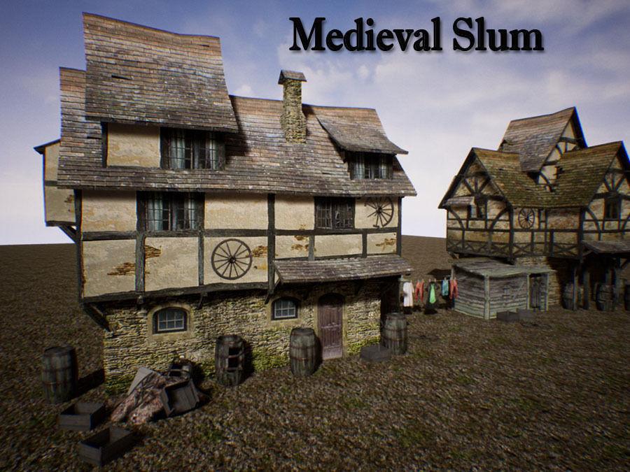 Medieval Slum for Unreal | 3D model