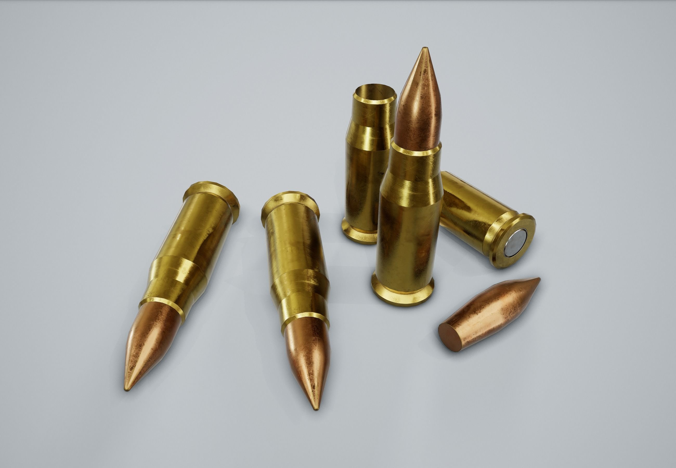 Cartridge Bullet PBR Game Ready | 3D model