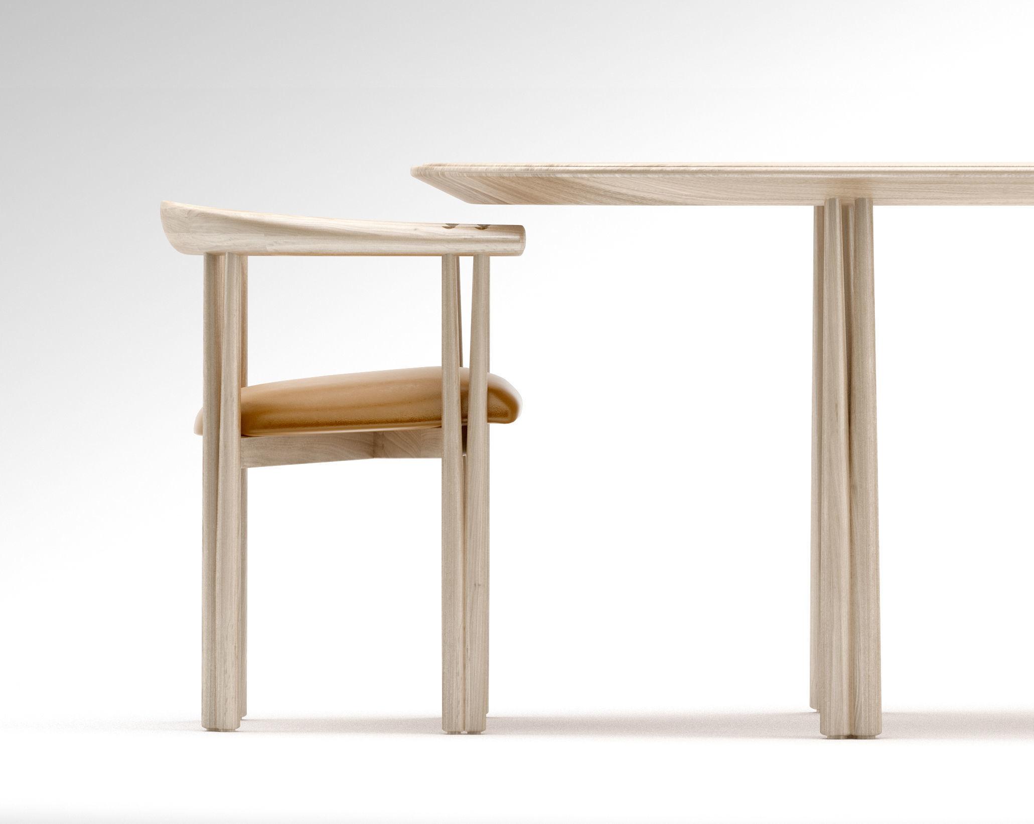 De la Espada Elliot dining chair and Elliot dining table