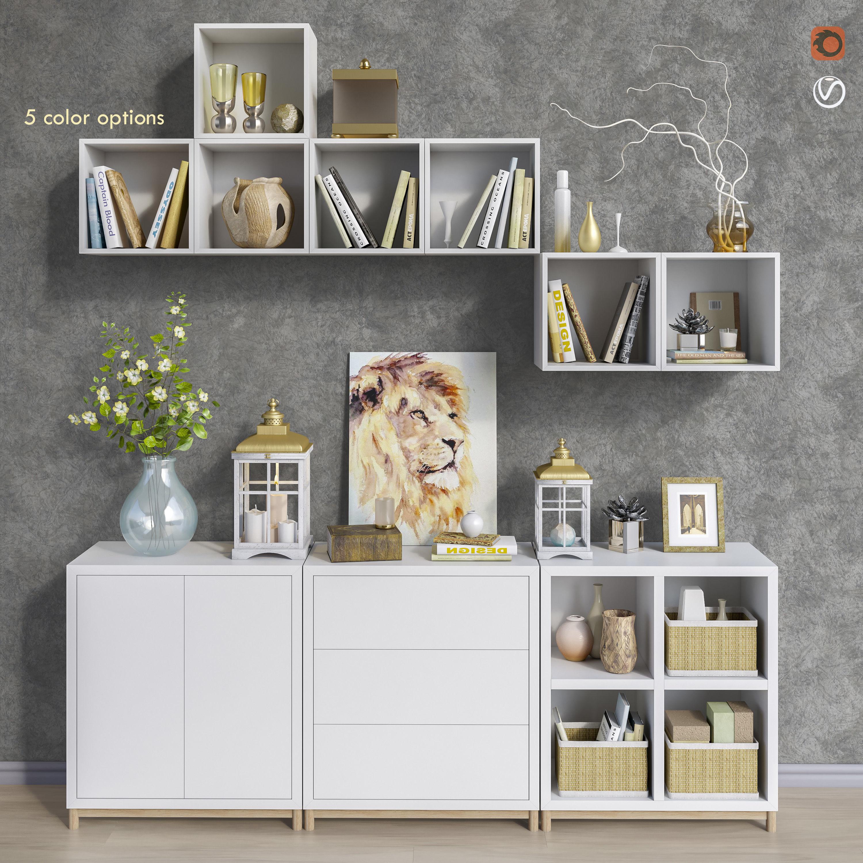 Modular Furniture And Decor Set 9 3d Model