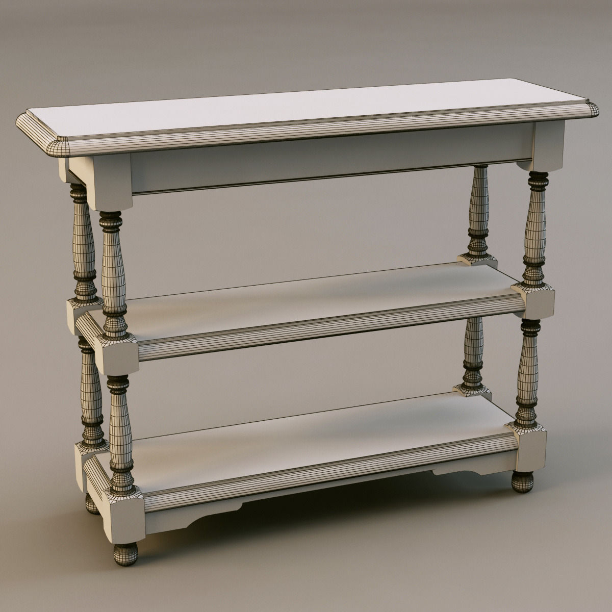 Corner Console Table 3d country corner pb57 console table | cgtrader