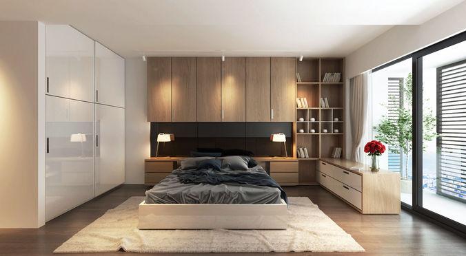 sat bedroom 3d model max fbx 1