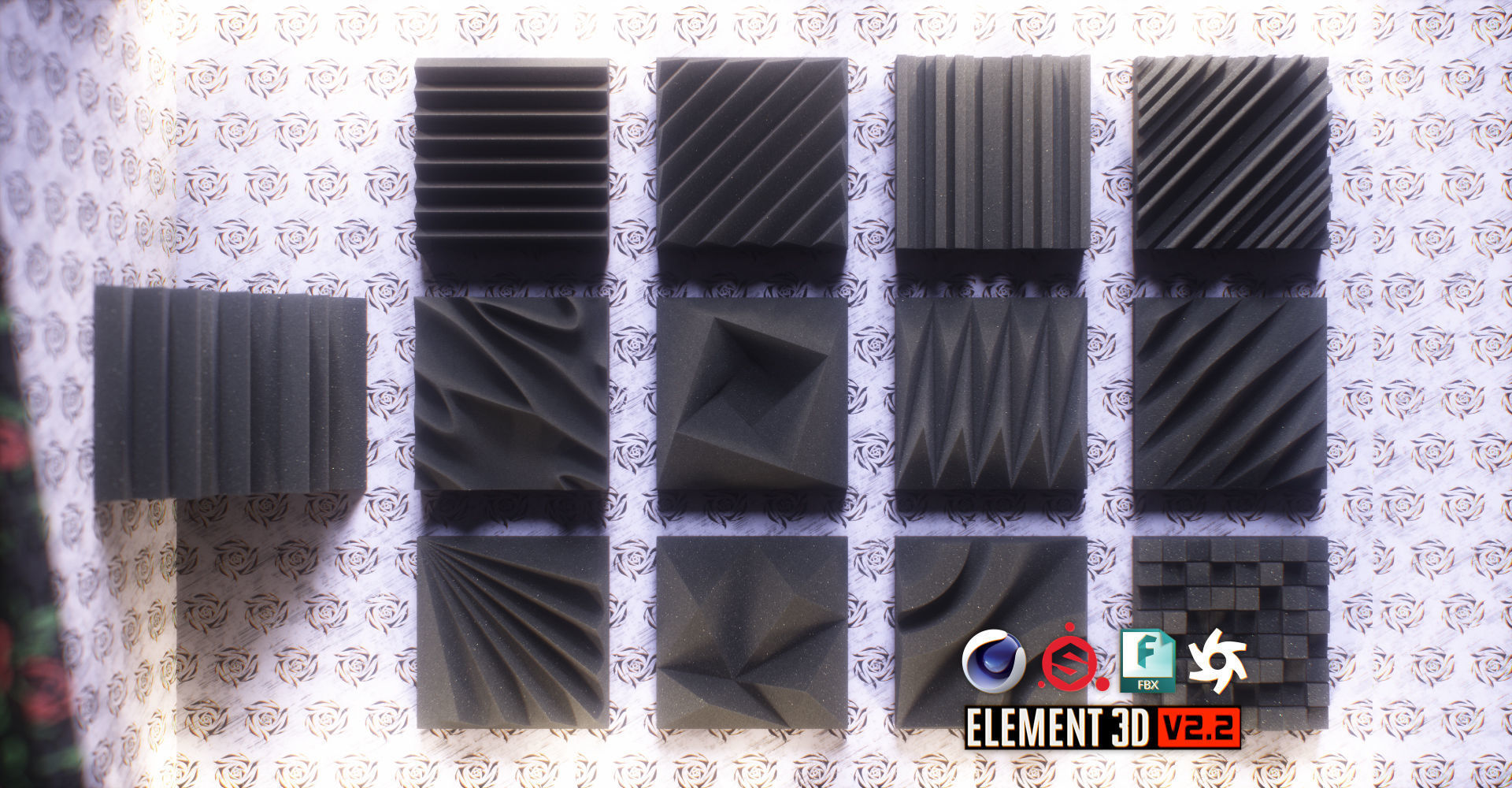 Acoustic Panels Kitbash Pack