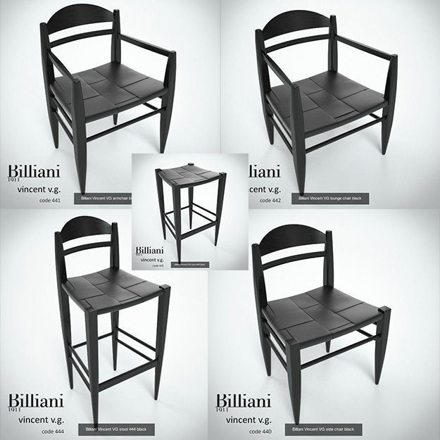 5 model pack - Billiani Vincent VG black wood