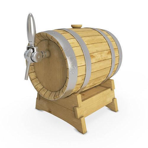 Wooden Beer Barrel 3d Model