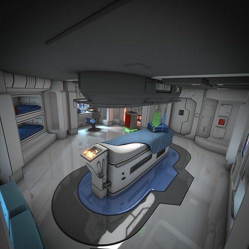 spaceship interior hd 3 3d model obj fbx lwo lw lws blend mtl pdf 1
