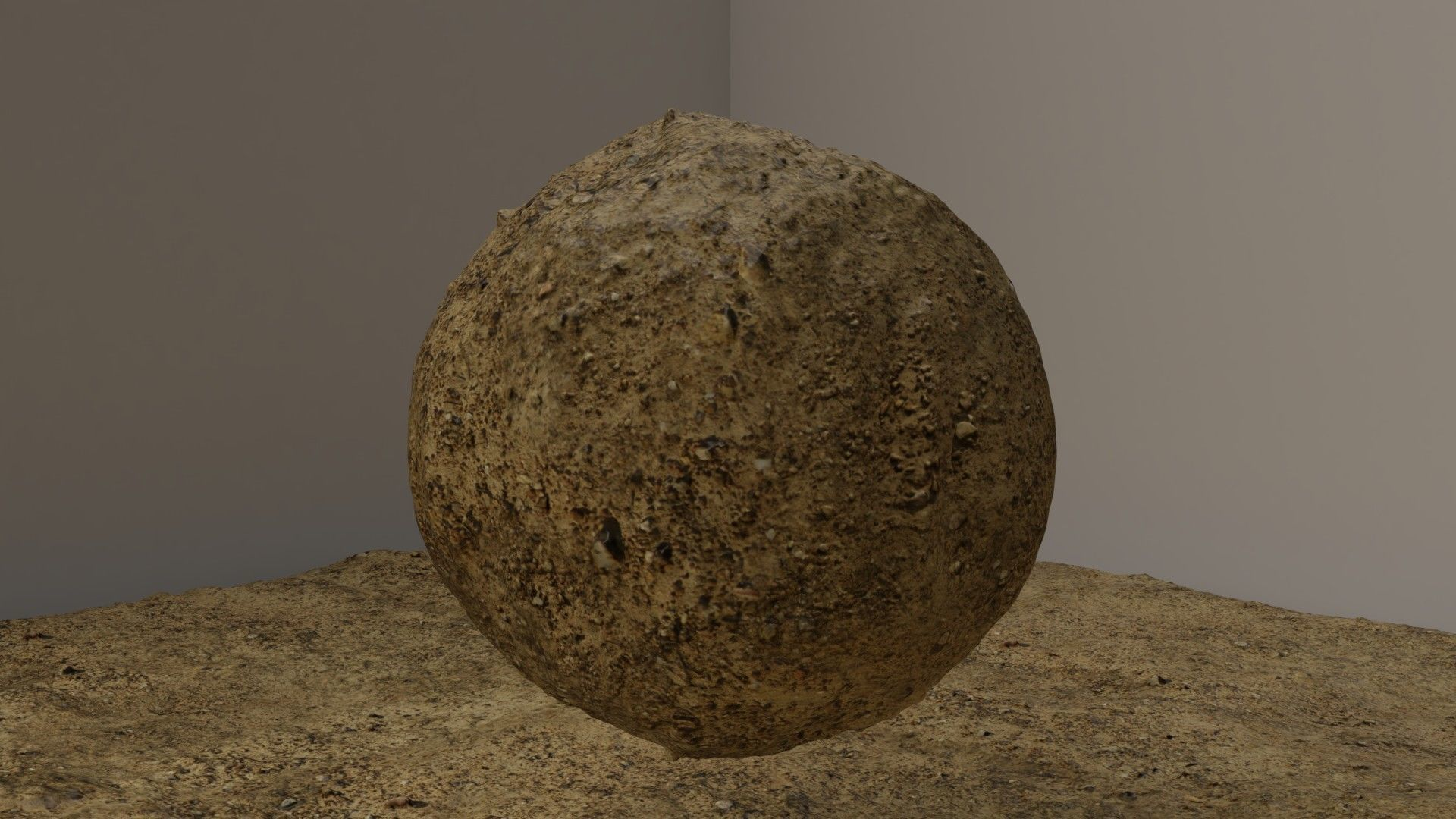 Soil With Pebbles Texture Seamless Photoscanned 3D model