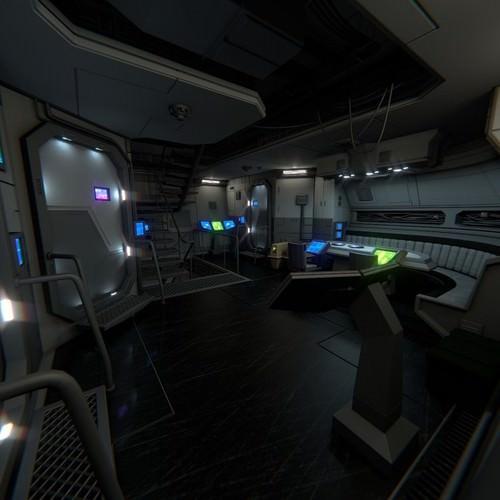 spacecraft interior b hd 2 3d model obj ma mb blend mtl 1