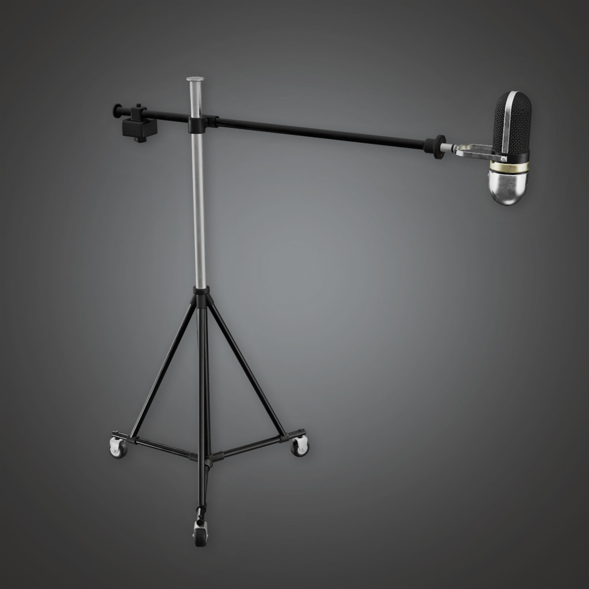 HLW - Standing Mic - PBR Game Ready