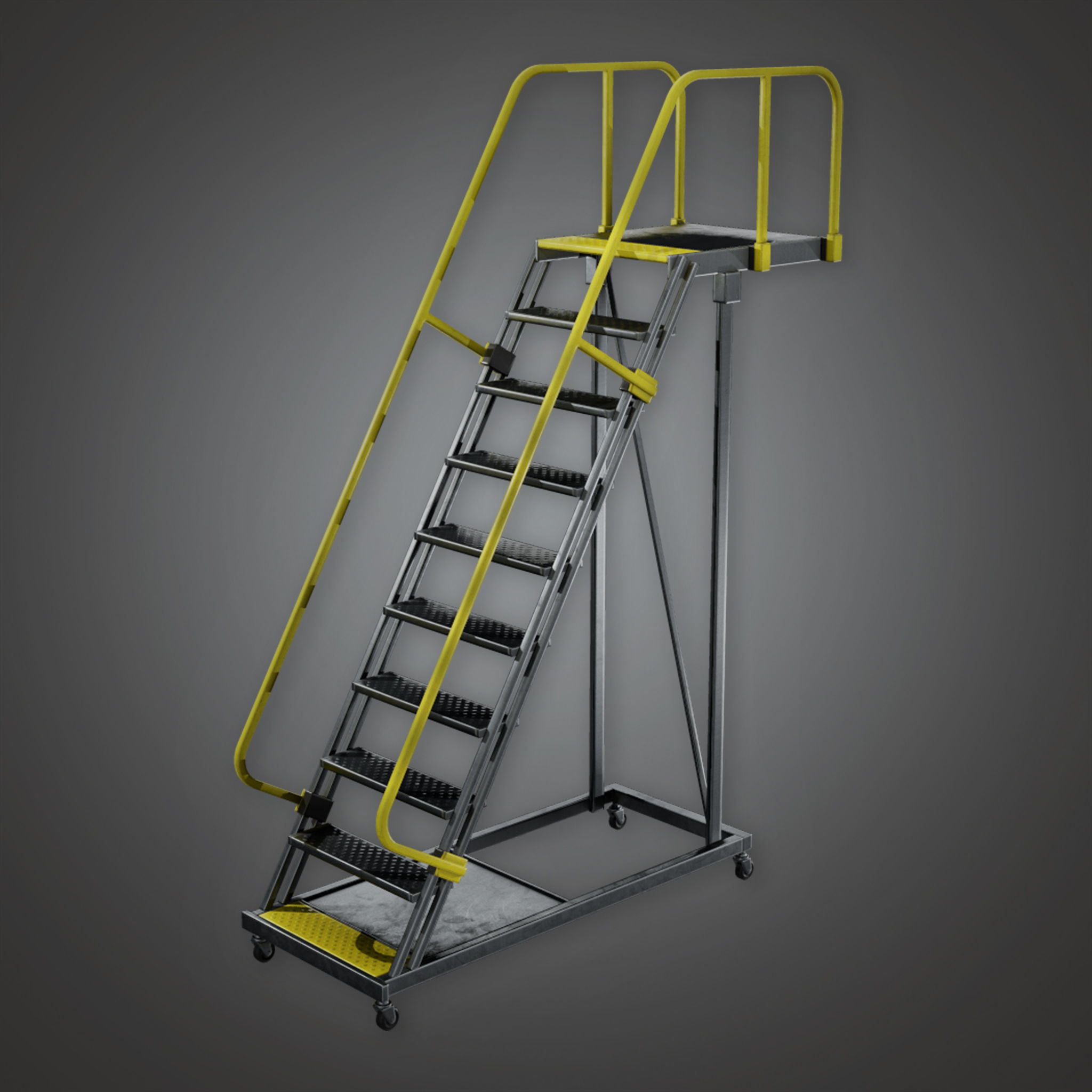 HLW - Standing Rail Ladder - PBR Game Ready