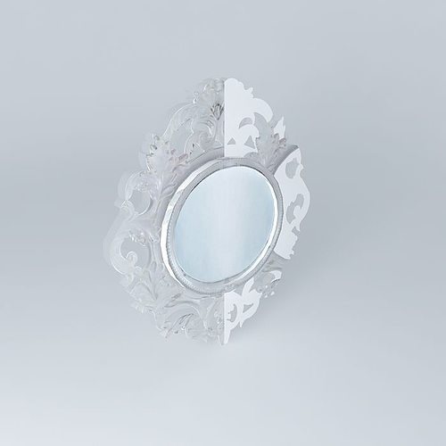 Translucent mirror baroque houses the world 3d model max for Plastic baroque mirror