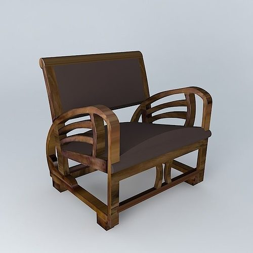 charleston chair maisons du monde 3d model cgtrader. Black Bedroom Furniture Sets. Home Design Ideas