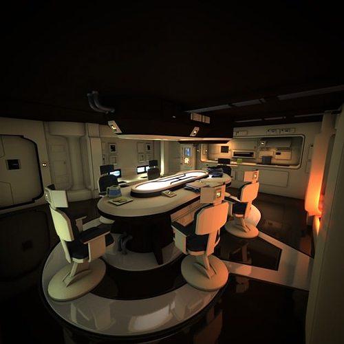 spaceship interior hd 1 3d model obj mtl fbx lwo lw lws blend 1