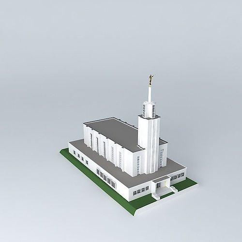 lds. temple mormon,bern switzerland ,9th. operating temple. 3d model max obj mtl 3ds fbx stl dae 1