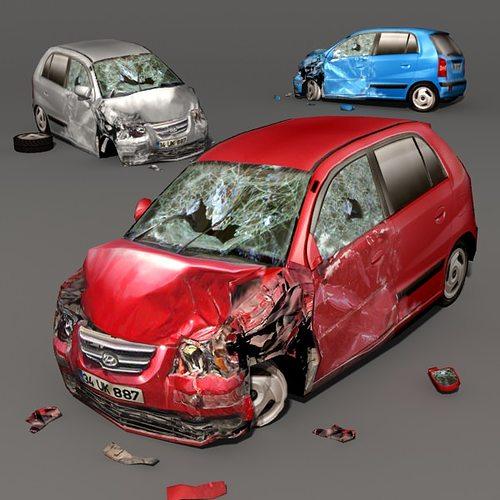 scrap car 01 3d model low-poly max obj mtl fbx ma mb 1