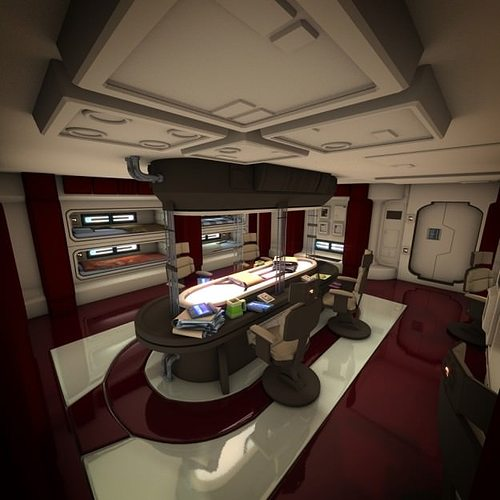 spacecraft interior hd 2 3d model obj mtl fbx lwo lw lws blend 1
