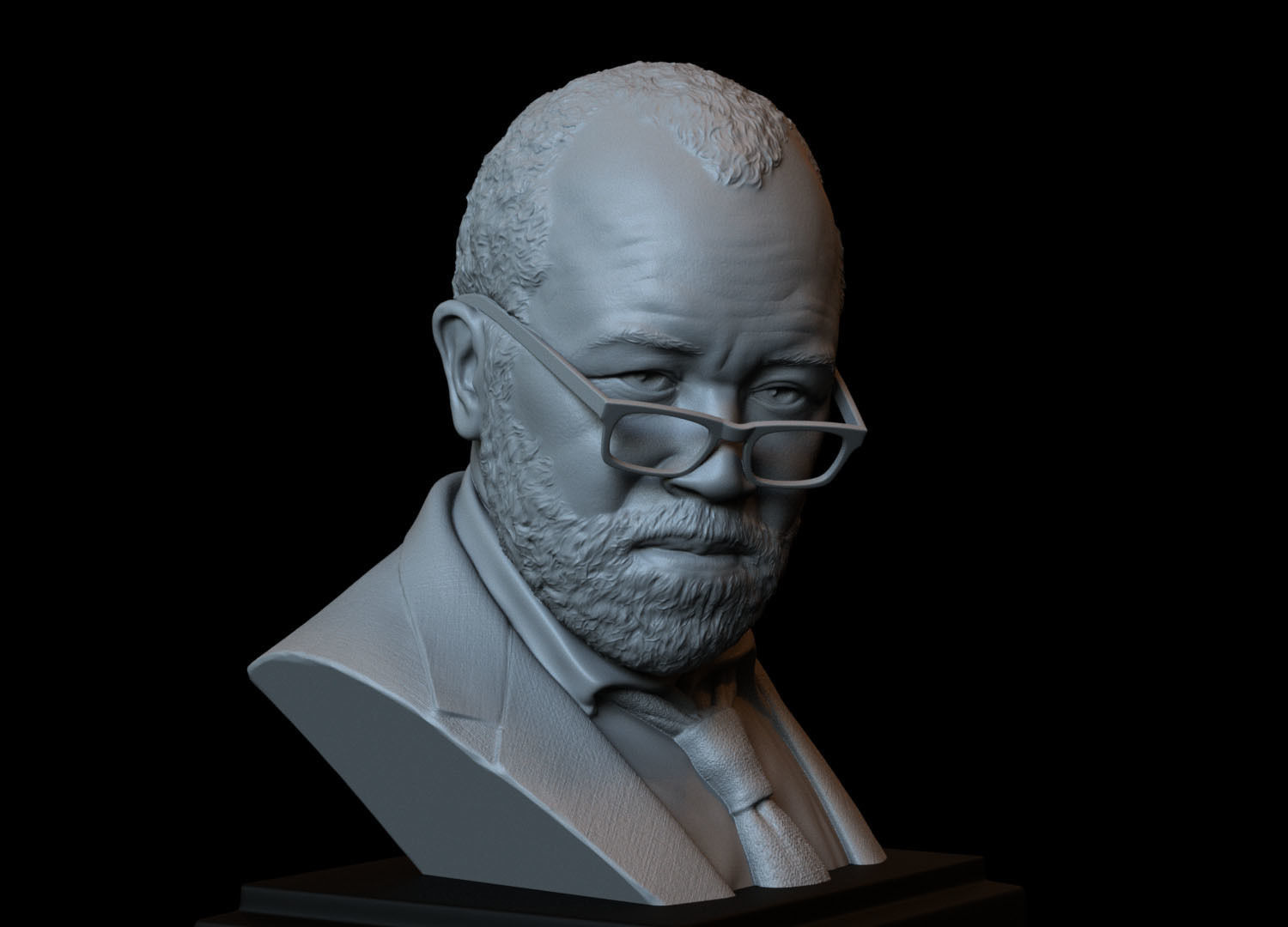 Bernard Lowe -Jeffrey Wright- from Westworld 3d printable bust